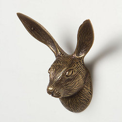 Rabbit Forestry Hook - Hang your hat on this sweet rabbit's ears.