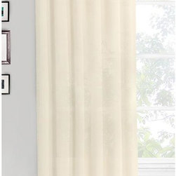 Home Decorators Collection - Cottage House Curtain Panel - Our Cottage House Curtain Panel is constructed of 100% cotton in a neutral color that will complement any room. The tab tops allow the panel to easily slide onto an existing or newly added curtain rod. 100% cotton construction. Tab top. Sold separetely.