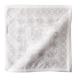 Gray Floral Tablecloth - This is a gorgeous, subtle tablecloth. It's perfect for everyday use.