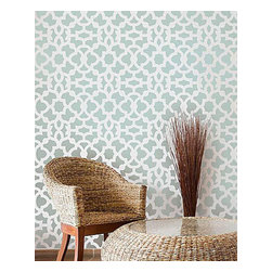 Cutting Edge Stencils - Zamira Moroccan Stencil Pattern - Reusable Stencil for Walls - DIY Home Decor, S - Try wall stencils instead of expensive wallpaper! Cutting Edge Stencils offers the best stencils for DIY décor - stencils expertly designed by professional decorative painters Janna Makaeva and Greg Swisher who have over 20 years of painting experience. We are a reputable stencil company that stands behind its high quality product. We are honored to have your 100% positive feedback.