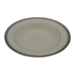 Noritake - Noritake Ardmore Platinum  Large Rim Soup Bowl - Noritake Ardmore Platinum  Large Rim Soup Bowl