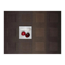 Chilewich - Engineered Squares Placemats Set/4 By Chilewich , Garnet - Engineered Squares Placemats Set/4 -Garnet