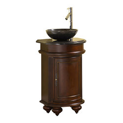 Kaco International Inc. - Kaco 5300-2400-1005VesselAB Arlington Sink - The Arlington, a stately traditional cabinet, features panel and frame doors, raised moulding drawer trim, bowed front , and fluted pilasters supported by rounded bun feet. Kaco products feature a Sherwin Williams water resistant furniture grade finish and a complete package of complimenting products for the bath.