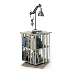 Go Home - Go Home Rotating Periodical Rack - Get an all in one solution for your child's study. This rotating rack will help your child to get the desirable book without having to reach in high places. This rack is spacious enough so that you can provide your child with an efficient table lamp allowing them to study at night as well. This wooden rack is sturdy enough to hold a large number of books. This will give your child ultimate comfort. This well-constructed furniture item has given an elegant finish. This is simply great for storing books while keeping your child's room clean.