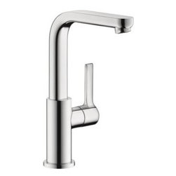 Hansgrohe - Hansgrohe - Metris S Single Hole Tall Faucet - 31161001 - Chrome - This Hansgrohe Metris S Single Hole 1-Handle Mid-Arc Bathroom Faucet in Chrome offers plenty of clearance with a mid-arc spout to make cleanup and operation easy. The single-handle fixture functions smoothly and rises to meet your needs. A sleek chrome surface helps this faucet weather everyday use to retain its shine.