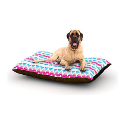 """Kess InHouse - Apple Kaur Designs """"Swimming Pool Tiles"""" Blue Pink Fleece Dog Bed (50"""" x 60"""") - Pets deserve to be as comfortable as their humans! These dog beds not only give your pet the utmost comfort with their fleece cozy top but they match your house and decor! Kess Inhouse gives your pet some style by adding vivaciously artistic work onto their favorite place to lay, their bed! What's the best part? These are totally machine washable, just unzip the cover and throw it in the washing machine!"""