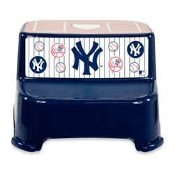 Kolcraft - Kolcraft MLB New York Yankees Step Stool - Make bathroom time fun and easy for your little fan with this MLB step stool. This step stool makes bathroom time exciting and simple because it sports your child's favorite team logo and gives access to the sink and adult toilet.