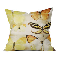DENY Designs - Chelsea Victoria Sherbert Dreams Outdoor Throw Pillow, 26x26x7 - Do you hear that noise? It's your outdoor area begging for a facelift and what better way to turn up the chic than with our outdoor throw pillow collection? Made from water and mildew proof woven polyester, our indoor/outdoor throw pillow is the perfect way to add some vibrance and character to your boring outdoor furniture while giving the rain a run for its money. Custom printed in the USA for every order.