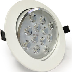 TorchStar - 12Watt Directional LED Recessed Ceiling Light AC85-265V, Warm White - Overview