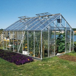 Juliana Gardener 3600 11.75 x 32.75-Foot Greenhouse Kit - Additional features:Door dimensions: 45W x 72H inchesPeak height: 8.6 ft.Sidewall height: 5.25 ft.Tough Scandinavian construction ensures frameswithstand the harshest climatic conditionsUV-coated polycarbonate panels are virtuallyunbreakable and offer 83% visible light transmissionRoof is pitched at 30 degrees to drain away rain,offering excellent ventilationRoof windows can be opened horizontally forincreased ventilationIntegral gutter designed to take downpipesCan accommodate partition walls to allow differentgrowing conditions in the separated sections of the greenhouseDetailed, illustrated assembly instructionsAll mounting hardware included12-year manufacturer's warrantyWith a large growing area, sturdy construction, and versatile function, it's small wonder that the Juliana Gardener 3600 11.75 x 32.75-foot Greenhouse Kit is popular with home gardeners and market farmers. It also accommodates partition walls, which would allow different growing conditions in the separated sections of the greenhouse. The twin-wall construction with polycarbonate panels offers up to 40% better insulation than single pane glass. Virtually unbreakable, even against baseballs, rocks and hail, these panels allow 83% visible light transmission, even as the UV coating shelters your plants against the harmful rays of the sun. The sturdy, reinforced aluminum frame, designed to withstand the extreme conditions in northern climates, boasts a tough Scandinavian construction, which is up to 50% stronger than other frames.Thanks to the double hinged doors, you can easily take a wheelbarrow or a small garden tractor in or out of the greenhouse. While a key lock provides added security, the Dutch or stable door offers easy ventilation. Eight double windows with adjustable roof vents ensure proper air circulation necessary for healthy plants. The galvanized base kit is included to provide extra stability during a storm. The 12-year manufacturer's warranty is an added bonus if you just want to enjoy gardening without having to worry about maintenance. Assembly is a weekend project for one or two people.About Juliana GreenhousesJuliana has been a premiere greenhouse manufacturer for over 40 years, originating in Scandinavia and expanding into the U.S. with Juliana America in 1991. Juliana is currently the largest distributor of greenhouses in the U.S. and offers high-quality greenhouses and greenhouse kits at unbeatable prices. Juliana greenhouses and greenhouse kits combine weather-tough durability with experience-driven design, providing the optimal growing environment for plants.
