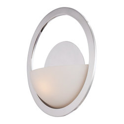 Quoizel - Quoizel UPCC8701IS Uptown Columbus Circle Wall Sconce - A graphically rich design using the most powerful form, a ���circle�, as a beacon, Columbus Circle is the center of attention.  It is featured in an Imperial Silver finish with opal etched glass.