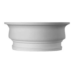 uDecor - HC-8036-C1 Half Capital 12 - Column is manufactured with a dense architectural polyurethane compound (not Styrofoam) that allows it to be semi-flexible and 100% waterproof. This molding is delivered pre-primed for paint. It is installed with architectural adhesive and/or finish nails. It can also be finished with caulk, spackle and your choice of paint, just like wood or MDF. A major advantage of polyurethane is that it will not expand, constrict or warp over time with changes in temperature or humidity. It's safe to install in rooms with the presence of moisture like bathrooms and kitchens. This product will not encourage the growth of mold or mildew, and it will never rot.