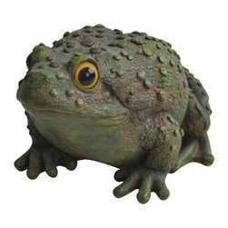 Alpine Fountains - Frog Leaping Garden Statue - Made of Polyresin and Stone Powder. 1 Year Limited Warranty. Assembly Required. Overall Dimensions: 6 in. L x 5 in. W x 5 in. H (0.59 lbs)Alpine's line of realistic animal statuary is sure to bring a sense of warmth and life to your home or garden. Each piece is crafted and colored with the finest materials to ensure durability and vibrance.