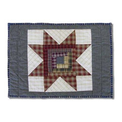 Patch Magic - Cottage Star Place Mat - 13 in. W x 19 in. L. 100% Cotton. Handmade, hand quilted. Machine washable. Line or flat dry only