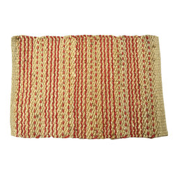 BrandWave - The Hudson, Placemat, Red - All natural hemp and jute are intricately hand woven to create this collection of placemats. Be comforted that your placemats are one-of-a-kind pieces, with no single placemat identically matching another. With four beautiful colors to choose from, you can always find the perfect look for your dining room table.