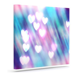 """Kess InHouse - Beth Engel """"Your Love is Sweet Like Candy"""" Heart Wrapped Art Canvas (20"""" x 16"""") - Bring your outdoor patio to life with this artistic outdoor canvas wrap featuring gorgeous artwork by KESS InHouse. These canvases are not only easy to hang and remove but also are the perfect addition to your patio collection. These canvases are stretched around a wooden frame and are built to withstand the elements and still look artistically fabulous. Decorating your patio and walls with these prints will add the splash of art and color that is needed to bring your patio collection together! With so many size options and artwork to choose from, there is no way to go wrong with these KESS Canvas Wraps!"""