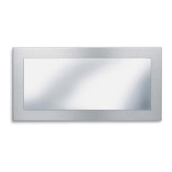 Blomus - MURO Mirror - Reflecting elegance is easy with the MURO Mirror. Crafted with stainless steel in matte finish, the clean, minimalist lines and flawless design creates a unique and enduring appeal.