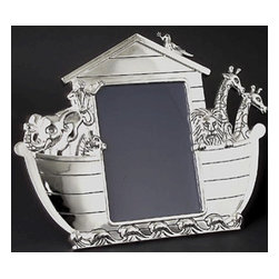 Godinger Silver - 3x5 Noah's Ark Photo Frame - This 3x3 picture frame, featuring a beautiful etching of Noah's Ark, is perfect for storing smaller photos and can be personalized to fit your needs. Nice memories deserve an even nicer presentation. Place any photo inside and this frame is certain to complement it. Dimensions: 5x6 inches.