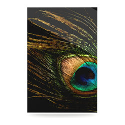 """Kess InHouse - Alison Coxon """"Peacock Black"""" Metal Luxe Panel (16"""" x 20"""") - Our luxe KESS InHouse art panels are the perfect addition to your super fab living room, dining room, bedroom or bathroom. Heck, we have customers that have them in their sunrooms. These items are the art equivalent to flat screens. They offer a bright splash of color in a sleek and elegant way. They are available in square and rectangle sizes. Comes with a shadow mount for an even sleeker finish. By infusing the dyes of the artwork directly onto specially coated metal panels, the artwork is extremely durable and will showcase the exceptional detail. Use them together to make large art installations or showcase them individually. Our KESS InHouse Art Panels will jump off your walls. We can't wait to see what our interior design savvy clients will come up with next."""