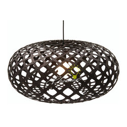 Kina Pendant - Stained - Kina is the Maori name for New Zealands's local sea urchin. Kina, the light, is inspired by the shape of the shell under the urchin's spines.