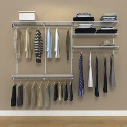 Organized Living Freedomrail - Organized Living freedomRail 8-Foot White Ventilated Closet Kit - Whether it's your laundry room, bedroom closet, mudroom, garage, or utility space that's in desperate need of a storage solution, freedomRail's Ventilated Closet Kit is the answer.