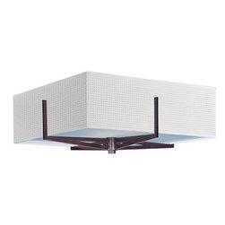 ET2 - ET2 E95440-100 Elements 3-Bulb Flush Mount Indoor Ceiling Fixture - Fabric Shade - Product Features: