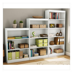 South Shore - South Shore 3 Piece Bookcase Set in Pure White - South Shore - Bookcases - 7250766PKG