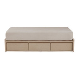"""Urbangreen - Thompson 6 Drawer Storage Platform Bed - Designers' contemporary approach to the urban need for storage created this Thompson Bed. Features: -Thompson collection. -Material: Real wood, veneers free of formaldehyde glues. -With 6 drawers. -Hand sanded and hand finished with high quality waterborne stains, paints and top coats. -Lowest VOC finishes. -Not harmful for humans and pets. -Attention to detail, optimizing wood use. -Hand made by craftsmen following smart design techniques. -Avoid to use chemical cleaners. -Mattress not included. -Made in the USA. -Sustainable, eco-friendly. -Drawers all run on top of the line steel.. -Drawer runners are under mount, concealed under the drawer, soft self closing, full extension heavy duty Tandem, Blumotion, guaranteeing superior function as well as looks. -Banging drawers shut is no longer an issue. -Drawers close discreetly and items inside stay in place. -Drawer interiors are deep, durable, and carefully joined.. -Drawer interiors are smooth wood surfaces, no roughness or saw dust.. Dimensions: -Platform Height: 13"""". -Drawer Inside Clearance: 7"""" H x 21"""" W x 20"""" D. -Full: 14"""" H x 75.5"""" W x 54"""" D, 250 lbs. -Queen: 14"""" H x 82.5"""" W x 60"""" D, 270 lbs. -King: 14"""" H x 82.5"""" W x 76"""" D, 300 lbs. -California King: 14"""" H x 86.5"""" W x 72"""" D, 300 lbs."""