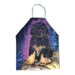 Caroline's Treasures - Starry Night Tibetan Mastiff Apron - Apron, Bib Style, 27 in H x 31 in W; 100 percent  Ultra Spun Poly, White, braided nylon tie straps, sewn cloth neckband. These bib style aprons are not just for cooking - they are also great for cleaning, gardening, art projects, and other activities, too!