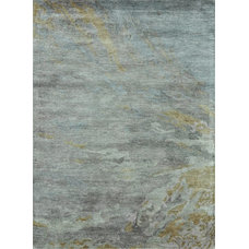 Contemporary Rugs Loloi Rugs LLR-ETEREY-04SI Eternity Silver-Gray Contemporary Hand Tufted Rug