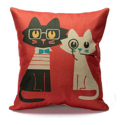 Cushion Magnifi-Cat-Essence (Cushion/Pillow Cover), Classy - These cushions covers are ''Purr-fect'' for poeple who whant to add a bit more ''Cat-titude'' in any room. They are design, funny and adorable! Chose your style and be ready to love them ''Furr-Ever''
