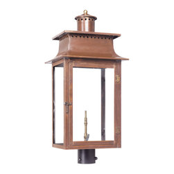 Elk Lighting - Elk Lighting Maryville 7906-WP Outdoor Gas Post Lantern in Solid Brass & Aged Co - 7906-WP Outdoor Gas Post Lantern in Solid Brass & Aged Copper Finish belongs to Maryville Collection by Elk Lighting Outdoor Gas Post Lantern Maryville Collection In Solid Brass In an Aged Copper finish. Post Lantern (1)