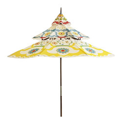 Floral Pagoda Umbrella - This is the perfect dose of summer fun for your patio!