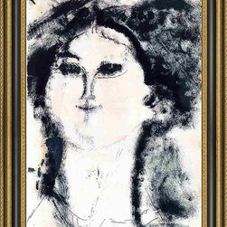 """Art MegaMart - Amedeo Modigliani Teresa - 16"""" x 24"""" Framed Premium Canvas Print - 16"""" x 24"""" Amedeo Modigliani Teresa framed premium canvas print reproduced to meet museum quality standards. Our Museum quality canvas prints are produced using high-precision print technology for a more accurate reproduction printed on high quality canvas with fade-resistant, archival inks. Our progressive business model allows us to offer works of art to you at the best wholesale pricing, significantly less than art gallery prices, affordable to all. This artwork is hand stretched onto wooden stretcher bars, then mounted into our 3 3/4"""" wide gold finish frame with black panel by one of our expert framers. Our framed canvas print comes with hardware, ready to hang on your wall.  We present a comprehensive collection of exceptional canvas art reproductions by Amedeo Modigliani."""