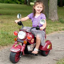 Trademark Global Inc - Lil Rider Maroon Marauder 3 Wheeler Motorcycle Battery Powered Riding Toy Multic - Shop for Tricycles and Riding Toys from Hayneedle.com! The Lil Rider Maroon Marauder 3 Wheeler Battery Operated Motorcycle Riding Toy takes kids on a wild ride through the neighborhood on a V-Twin-styled three-wheeler. The six-volt battery-powered riding toy has buttons for sound effects and a headlight that lights up (AA batteries not included). The maroon motorcycle has Wild Child decals with flames and stars for a fun look. Designed for children ages 3 years to 7 years. Minor assembly required. Weight capacity: 55 pounds. Dimensions: 37L x 17.5W x 26.75H inches.About Trademark Global Inc.Located in Lorain Ohio Trademark Global offers a vast selection of items for your home and lifestyle. Whether you need automotive products collectibles electronics general merchandise home and garden items home decor house wares outdoor supplies sporting goods tools or toys Trademark Global has it at a price you can afford. Decor items and so much more are the hallmark of this company.