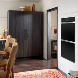 Sub-Zero Refrigerators - From Sub-Zero & Wolf comes the 30-inch all refrigerator column (Model: IC-30R) and 30-inch all freezer column (Model: IC-30F).  Also featured is Wolf's M Series Contemporary Double Wall Oven (Model: DO30CMB)