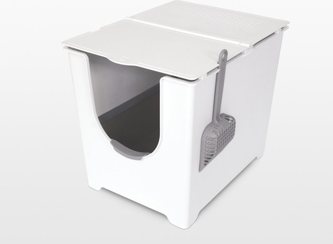 Modko litter boxes address the mess - Modern kitty litter box ...
