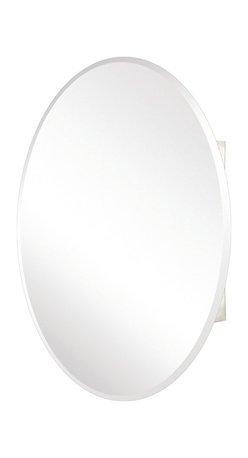 Pegasus - Beveled Mirror Medicine Cabinet - SP4583 - Manufacturer SKU: SP4583. Includes side mirror and hanging kit. Oval shape. Adjustable glass shelves. Rust-free aluminum case. Piano hinges open upto 165 degree. Recess and surface mount. 24 in. W x 36 in. H x 4.5 in. D (36.8 lbs.)