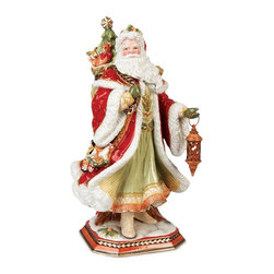 Fitz and Floyd - Fitz and Floyd Damask Santa Figurine - 19-616 - Shop for Sets from Hayneedle.com! About Fitz and FloydFitz and Floyd is recognized worldwide as a leader amongst the style- and quality-conscious. For 50 years their unique designs have made them the leader in the purveyor of hand-painted ceramic dinnerware tableware accessories giftware and collectibles. All Fitz and Floyd pieces are easy to spot. Each piece is distinctively hand-crafted by artisans from the drawing board to the sculpting wheel and kiln.The company's Dallas-based studios are renowned for producing over 500 unique designs per year. Creations range from presidential dinnerware for the White House or a tea service for Her Majesty Queen Elizabeth II to the perfect centerpiece for your table and each design is lovingly crafted in the highest quality. Meticulous craftsmanship and exquisite detail make every Fitz and Floyd piece a treasured heirloom-quality gift.