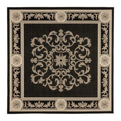 Safavieh - Safavieh Courtyard Transitional Rug X-012-8093-4192YC - Safavieh takes classic beauty outside of the home with the launch of their Courtyard Collection. Made in Belgium with enhanced polypropylene for extra durability, these rugs are suitable for anywhere inside or outside of the house. To achieve more intricate and elaborate details in the designs, Safavieh used a specially-developed sisal weave.