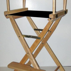 Yu Shan - 30-Inch Seat Height Folding Director's Chair - Color: YellowCanvas can be washed by cold water only . For indoor use only. 30 in. Seat Height. Frame Color: Natural. 45.75 in. H x 20.5 in. W x 16 in. D (14 lbs.). Chair Weight Capacity: 250 lbs.