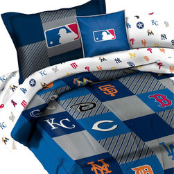 The Northwest Company - MLB Comforter Set Baseball League Teams 2pc Twin Bedding - FEATURES: