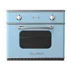 "Big Chill - Big Chill Electric Wall Oven 30 in. wide - Beach Blue - The Big Chill Beach Blue Wall Oven truly is a Modern Made Classic. Vintage inspired style meets modern performance with the electric wall mounted oven. Easily installed into your kitchen, the space-saving black Wall Oven is electric, and ideal for condo living and small kitchens. The blue Wall Oven saves on kitchen space but is large enough to fit a commercial 18"" x 26"" baking sheet. The performance oven has a 5000 watt broil element, removable racks for easy cleaning, and precision convection cooking. This modern spin on a vintage classic is every cooks dream."