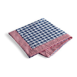 Frontgate - Set of Four Gingham Dinner Napkins - Created by noted tabletop designer Kim Seybert. Puckered, 100% cotton fabric. Adds a casual, carefree touch to any table setting. Easy care machine wash, tumble dry. A classic Gingham-check Napkin is the perfect finishing touch to a summer tablescape or seaside picnic. Designer Kim Seybert brings a fresh look to this retro pattern with a distinctive palette, contrasting border and 100% cotton fabric.  .  .  .  .