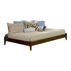 Atlantic Furniture - Atlantic Furniture Concord Antique Walnut Daybed with Open Footrail - Atlantic Furniture - Daybeds - AP8121004 - The Concord is a contemporary daybed with a clean design and ample selection of colors. The Concord can coordinate and adapt to any bedroom or any Atlantic Furniture case goods. Set it up as a daybed or as a more traditional platform bed.Add under bed drawers for additional storage or a trundle for extracompany. Perfected with Atlantic Furniture's high build Five Step Finishing Process onEco-friendly hardwood the Concord Daybed is an ideal addition to anybedroom.Features: