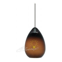 Alina Pendant - Hand-blown Venetian teardrop shaped glass with beautiful clear draw. Includes low-voltage, 50 watt halogen bi-pin lamp or 6 watt replaceable LED module and six feet of field-cuttable suspension cable.