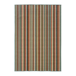 Sphinx - Sphinx Montego Green Transitional Outdoor Striped Rug X-TS693952C6996M - The colors of our Montego collection were inspired by the fresh, bright hues of nature. The collection offers a modern twist on classic design and new colors update traditional outdoor decor. Textural effects add to the surface interest of each rug and the inherently stain resistant fibers encourage a relaxed atmosphere to socialize with family and friends without traditional worries associated with natural fiber rugs. Machine-made of 100% polypropylene.