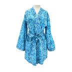 Divine Designs - Azure chevron Robe - An organic  rendition of the chevron stripe .