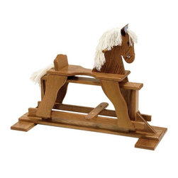 Fifthroom - Wooden Glider Horse - Our solid oak glider horse is hand-crafted to last for generations. Your child's imagination will gallop away while playing on their new pony.