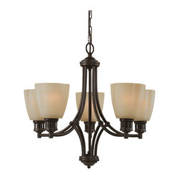 Sea Gull Lighting - Sea Gull Lighting 31475-782 Century Heirloom Bronze 5 Light Chandelier - Sea Gull Lighting 31475 Century 5 Light Chandelier